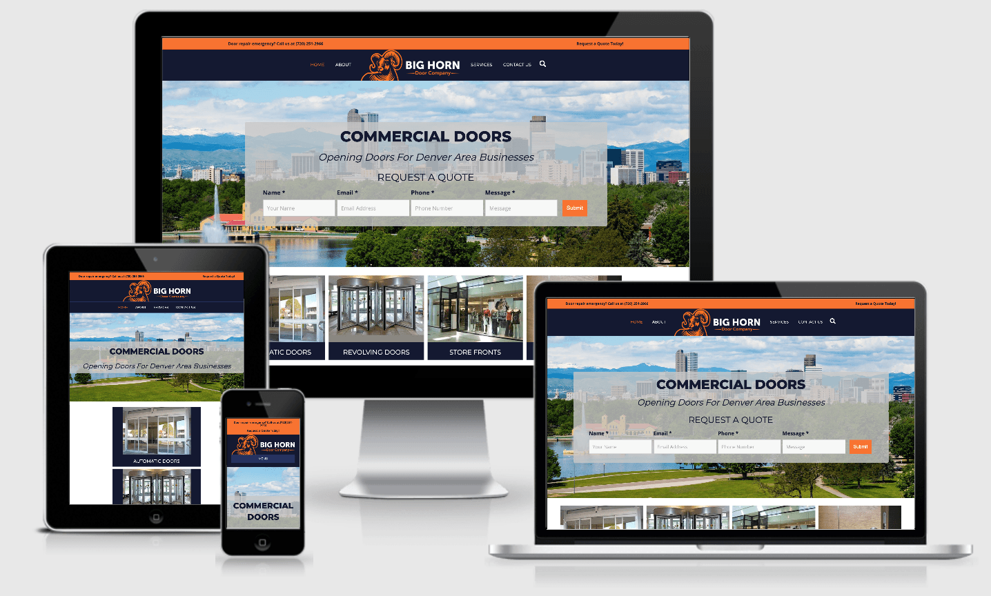 Big Horn Door Company Website on all size devices
