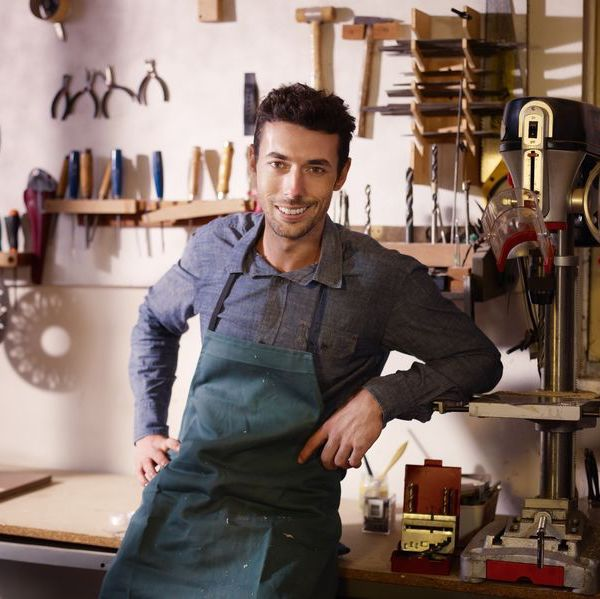 Man Working in a Shop