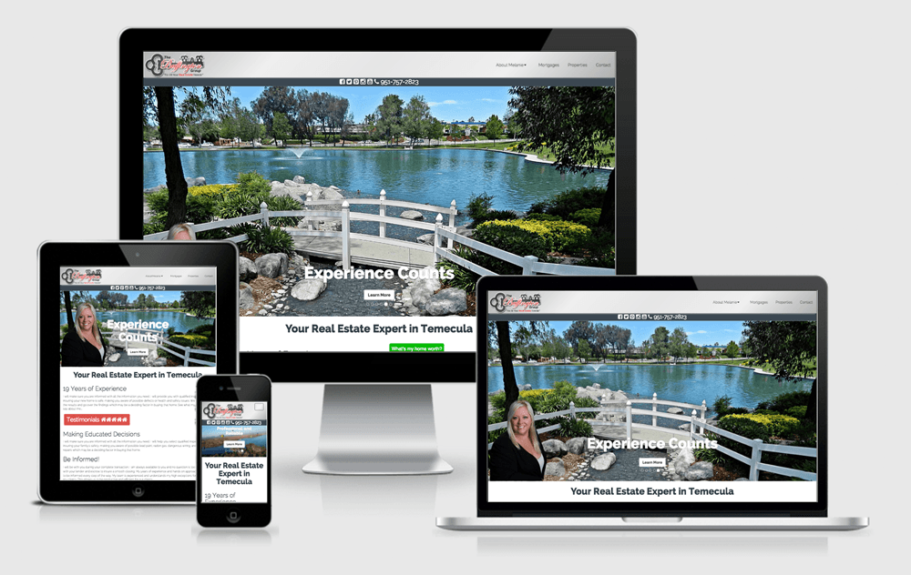 The Buffington Group Website on multiple size devices