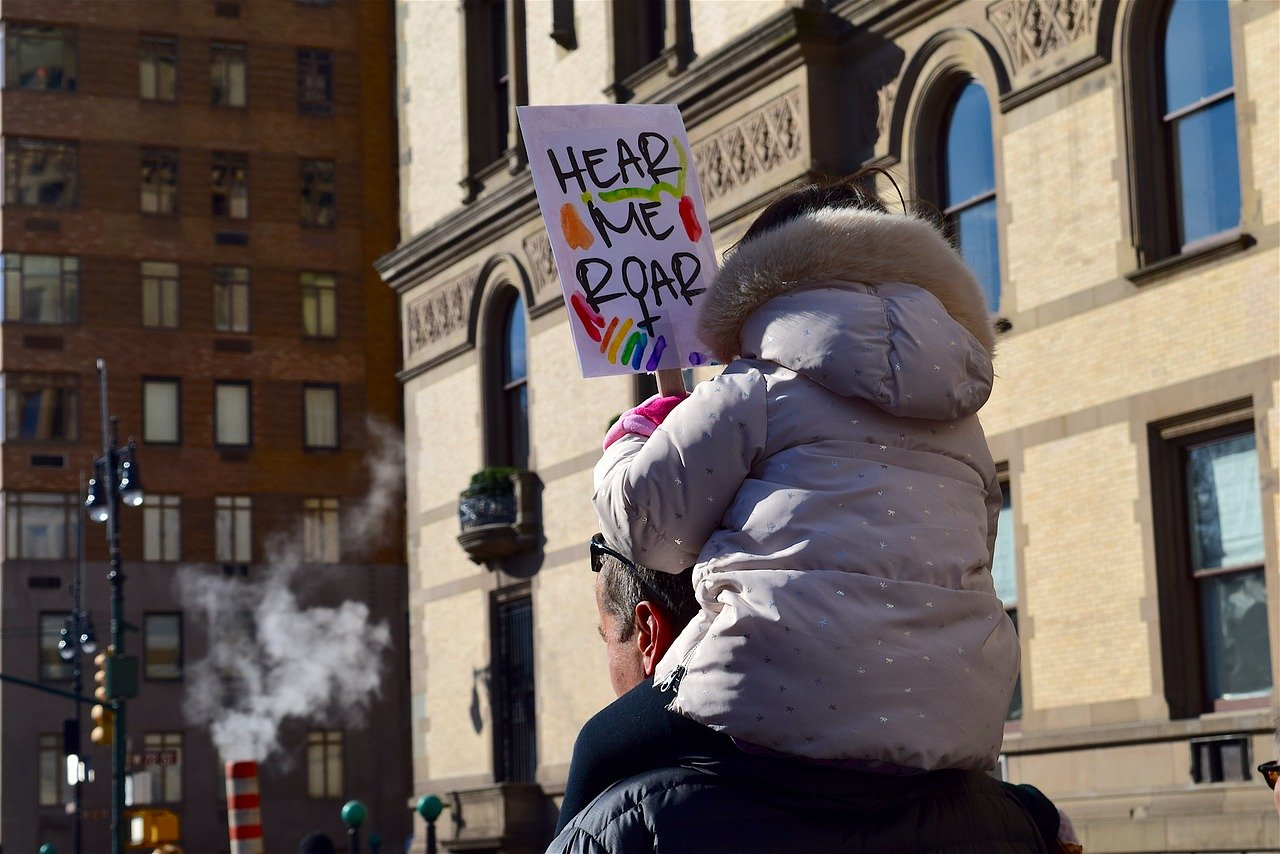 child protest sign